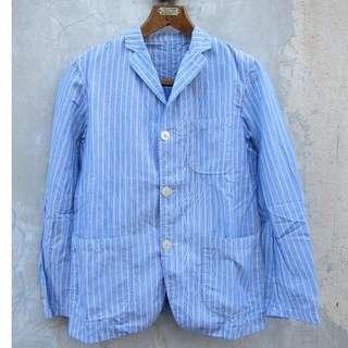 Beams yarn dye stripe jacket