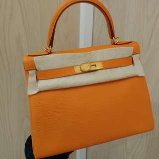 Hermes kelly 28 orange