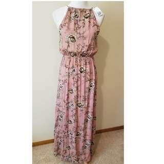 FOREVER 21 Pink Floral Long Dress