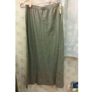 500元含運 全新無印良品舒適長裙 女士.灰色(M)腰圍62-68 市價1190元