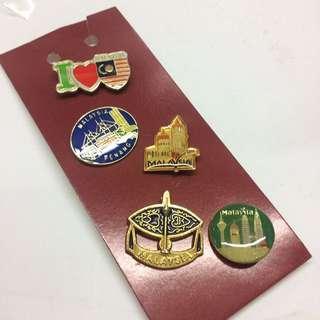 Malaysia collar pin (1set)