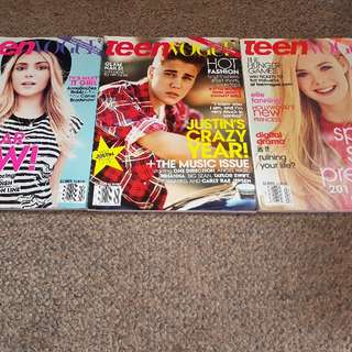 3 x Teen Vogue Magazines