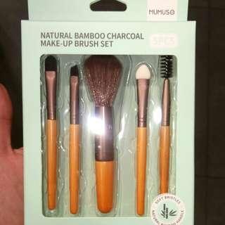 Mumuso Bamboo Charcoal Makeup Brush Set