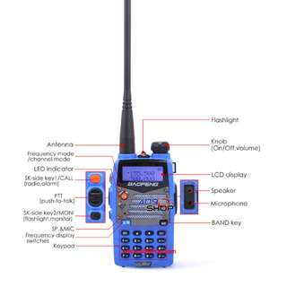 BAOFENG UV5RA-PLUS-BLUE-UU 136-174/400-520MHZ RADIO 對講機