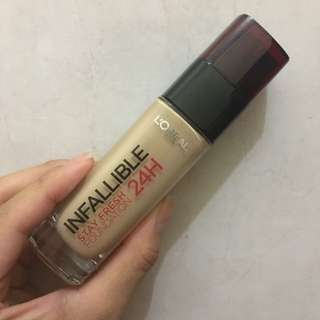 [PRELOVED] L'OREAL INFALLIBLE STAY FRESH 24H FOUNDATION - REPRICE