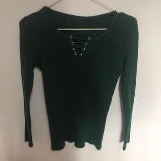 🚚 綠色針織上衣