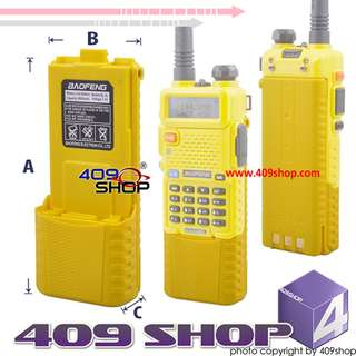 baofeng uv-5r extended battery charger + 3800 Yellow BATTERY