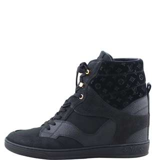 Authentic Louis Vuitton Cliff Top Wedge Sneakers