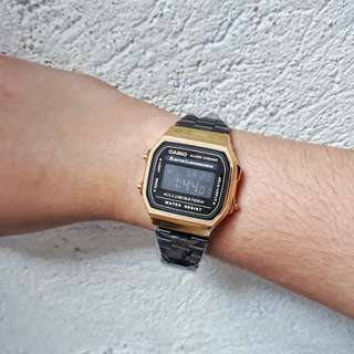 CASIO ILLUMINATOR BLACK GOLD