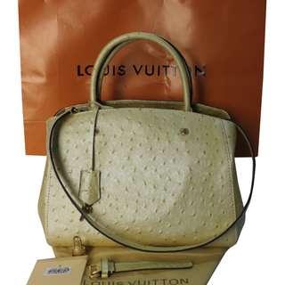 Louis Vuitton Montaigne Ostrich Bag
