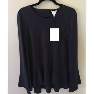 New! Witchery Bell Sleeve Pendulum Top Blouse Size M 12/14 RRP 79.95