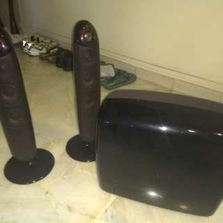 Samsung front speakers and subwoofer