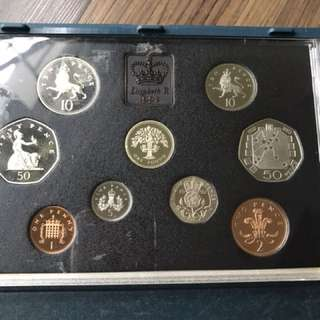UK 1993 Proof Coin Set