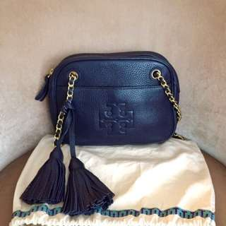 Tory burch Thea chain crossbody in navy blue