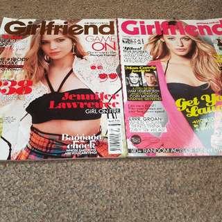 2 x Girlfriend Magazines