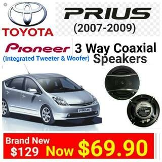 """[Brand new] Toyota Prius Car Speaker by Pioneer 3 way car speaker -320watts 6.5""""/16vm Coaxial Speaker.  model TS-A1676.(UP: $129 Special Offer: $69.90. Whatspp 85992490 to collect today."""