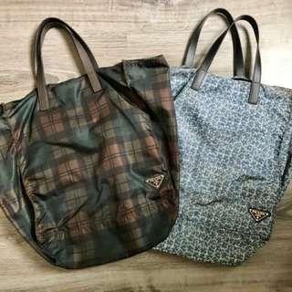 Prada nylon tote bags (reversible) $850 each