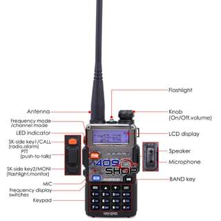 BAOFENG UV-5RE Dual Band 136-174/400-520MHZ 對講機