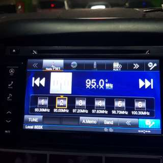 alpine head unit with navigation system (Bluetooth enabled)