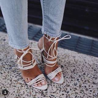 Mode Collective Twisted Strap Heel