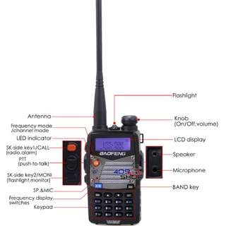 BAOFENG UV-5RA-PLUS UU 136-174/400-520MHZ 對講機