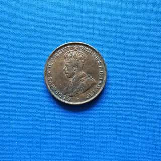 King George v 1935 Australia one penny. For  sharing only