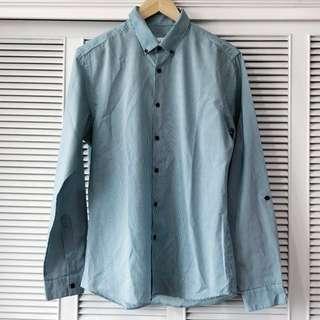 Topman Light Blue Striped Shirt