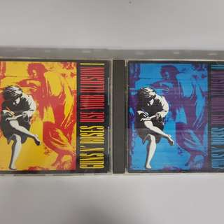 "Guns N Roses ""Use Your Illusion 1"" & 2 albums selling at a price of $10"