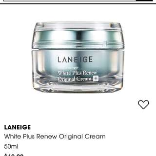Laneige white plus renew cream full size
