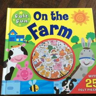 Felt fun activity book farm animals