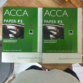 ACCA F5 study text and revision kit
