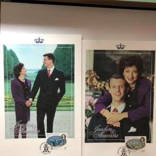 Prince Joachim & Alexandra Manley Postcard