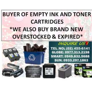 HIGHEST PRICE BUYER OF EMPTY INK CARTRIDGES & TONER