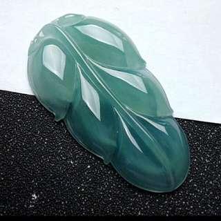 🎇Grade A Icy Leaf 事业有成 Jadeite Jade Pendant🎇