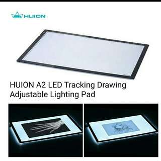 """HUION A2 24.5"""" Portable Cartoon Tattoo Tracing Drawing LED Light Pad Box Panel Table Copyboard Adjustable Brightness with Power Adapter"""