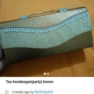 REPOST tas party brown