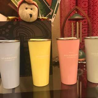 Starbucks Pastel Color Tumblers