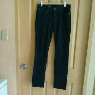 AG black corduroy jeans