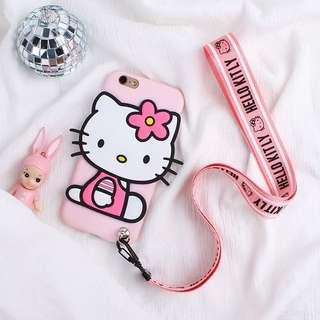 PO(183) Hello Kitty Silicon iPhone Samsung Phone Case