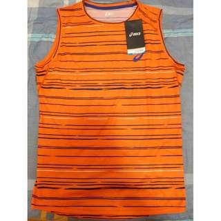 Asics Men's Sleeveless Sports Shirt - M - Orange
