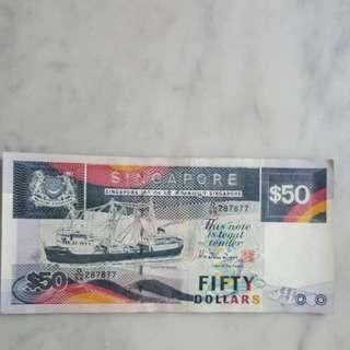 Auspicious number $50 note