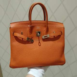 Hermes birkin 25 orange