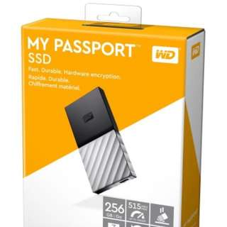 Brand New WD My Passport Portable SSD 256GB (sealed)