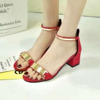 Back zipper heel(authentic)
