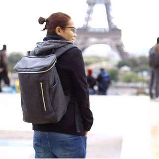Black Backpack with laptop sleeve