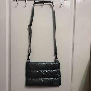 Cipu 喜舖媽媽空氣側背包-灰色內桃紅(全新)