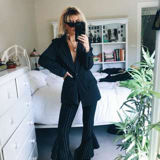 Pinstripe blazer and pants set