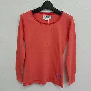 (減價)👧 Girl's cotton-knitted long sleeves Tee (Fit for 7yrs to 10yrs old) 女童裝棉長袖Tee (適合7至10歲)