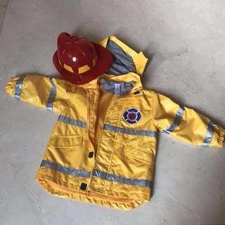 Fireman Raincoat (bonus fireman hat) Carters age 3-6