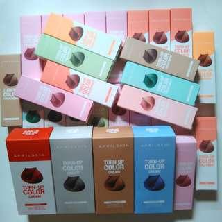 Instock! April Skin Turn-Up Color Treatment Hair Dye/Cream/Bleach Kit
